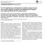 Use of complementary and integrative medicine among German breast cancer patients